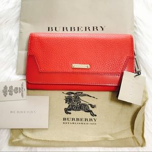 {Burberry} London Grainy Leather Penrose Wallet